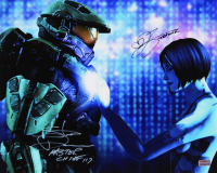 "Steve Downes & Jen Taylor Signed ""Halo"" 16x20 Photo Inscribed ""Master Chief 117"" & ""Cortana"" (Radtke COA) at PristineAuction.com"