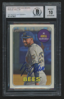 Jo Adell Signed 2018 Topps Heritage Minors #220 SP Baseball Card (BGS Encapsulated) at PristineAuction.com
