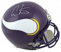 Cris Carter Signed Vikings Full-Size Helmet (Beckett COA) at PristineAuction.com