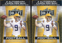 Lot of (2) 2020 Leaf Draft Football Blaster Boxes at PristineAuction.com
