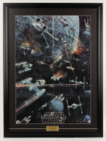"1977 Original Promotional ""Star Wars: Episode IV -  A New Hope"" 27x36.5 Custom Framed Vintage Record LP Movie Poster Insert at PristineAuction.com"