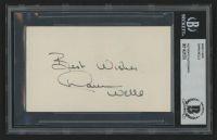 "Dawn Wells Signed 3x5 Index Card Inscribed ""Best Wishes"" (BAS Encapsulated) at PristineAuction.com"