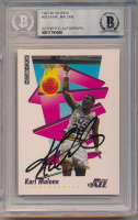 Karl Malone Signed 1991-92 SkyBox #283 (BGS Encapsulated) at PristineAuction.com