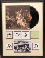 Jimmy Page, Robert Plant & John Paul Signed Led Zeppelin 22x29 Custom Framed Cut & Vinyl Display (JSA LOA & PSA COA) at PristineAuction.com