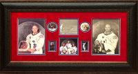 "Michael Collins, Buzz Aldrin & Neil Armstrong Signed ""Apollo 11"" 20.5x39 Custom Framed Photo Display (JSA LOA) at PristineAuction.com"