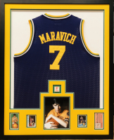 """Pistol"" Pete Maravich Signed 34x42 Custom Framed Ticket Display (JSA LOA) at PristineAuction.com"