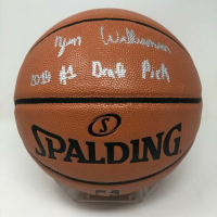"""Zion Williamson Signed NBA Game Ball Series Basketball Inscribed """"2019 #1 Draft Pick"""" (Fanatics Hologram) at PristineAuction.com"""