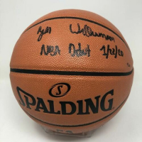 "Zion Williamson Signed NBA Game Ball Series Basketball Inscribed ""NBA Debut 1/22/20"" (Fanatics Hologram) at PristineAuction.com"