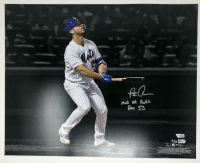 """Pete Alonso Signed Mets 16x20 LE Photo Inscribed """"MLB HR Rookie Rec 53"""" (Fanatics Hologram) at PristineAuction.com"""