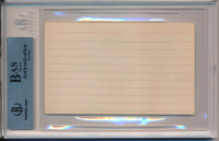 Muhammad Ali Signed 3x5 Index Card (BAS Encapsulated) at PristineAuction.com