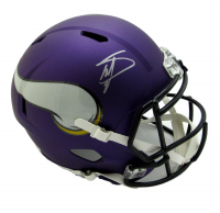 Stefon Diggs Signed Minnesota Vikings Full-Size Matte Purple Speed Helmet (JSA COA) at PristineAuction.com