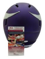 Stefon Diggs Signed Vikings Full-Size Matte Purple Speed Helmet (JSA COA) at PristineAuction.com