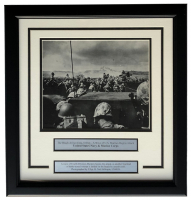 """Beach At Iwo Jima D-Day"" 17x18 Custom Framed World War II Photo Display at PristineAuction.com"