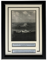 """Murderer's Row Ulithi Anchorage"" 15x20 Custom Framed World War II Photo Display at PristineAuction.com"
