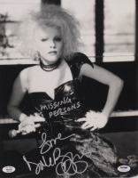 "Dale Bozzio Signed 11x14 Photo Inscribed ""Missing Persons"" (PSA COA & Bozzio Hologram) at PristineAuction.com"