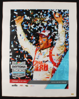 "Joey Logano Signed 28x35 2015 Daytona 500 Photo on Canvas Inscribed ""15 Daytona Champ"" (PA COA) at PristineAuction.com"
