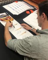 "Joey Logano Signed - 2015 Daytona 500 - NASCAR - 28x35 Photo on Canvas Inscribed ""15 Daytona Champ"" (PA COA) at PristineAuction.com"