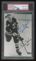 Gordie Howe Signed Postcard (PSA Encapsulation) at PristineAuction.com