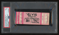 "1977 ""Elvis in Concert"" Unused Ticket (PSA 7) at PristineAuction.com"