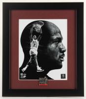 Michael Jordan Bulls 13x15 Custom Framed Photo Display with Jordan Pin at PristineAuction.com