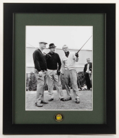 "Arnold Palmer, Jack Nicklaus & Sam Snead ""The Masters"" 13x15 Custom Framed Photo Display with Masters Ball Marker at PristineAuction.com"