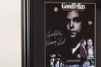 """Henry Hill Signed """"Goodfellas"""" 17.5x22.5 Custom Framed Photo Display Inscribed """"Goodfella"""" with Replica Gun & Stack of Prop Money (PSA COA) at PristineAuction.com"""