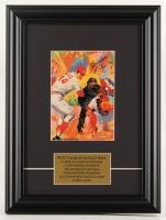 "Pete Rose Signed Reds 11.5x15.5 Custom Framed LeRoy Neiman Print Display Inscribed ""Hit King"" (JSA COA) at PristineAuction.com"