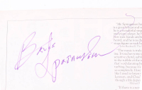 Bruce Springsteen Signed 11x14 Magazine Page (PSA Hologram) at PristineAuction.com