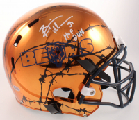"Brian Urlacher Signed Bears Full-Size Authentic On-Field Hydro-Dipped Chrome Helmet Inscribed ""HOF 2018"" (Beckett COA) at PristineAuction.com"