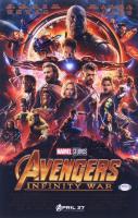 "Tom Holland & Elizabeth Olsen Signed ""Avengers: Infinity War"" 11x17 Photo (PSA COA) at PristineAuction.com"