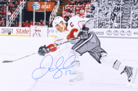 Jarome Iginla Signed Flames 12x18 Photo (JSA COA) at PristineAuction.com