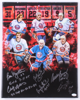 Islanders 16x20 Print On Canvas Signed by (6) With Mike Bossy, Billy Smith, Brian Trottier, Denis Potvin With Multiple Inscriptions (JSA COA) at PristineAuction.com