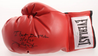 """James """"Buster"""" Douglas Signed Everlast Boxing Glove Inscribed """"I Beat Iron Mike 2/11/90"""" (Schwartz Sports COA) at PristineAuction.com"""