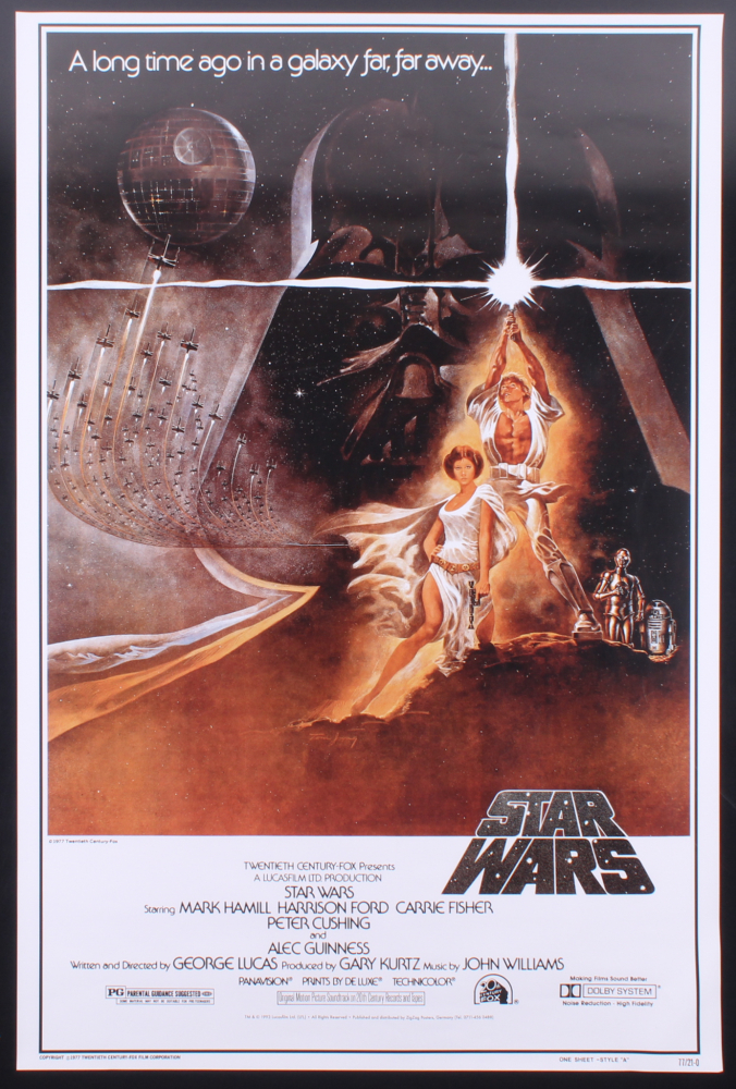 """Star Wars"" 24x36 Promotional Poster at PristineAuction.com"