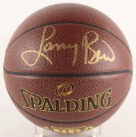 Larry Bird Signed NBA Logo Basketball (Bird Hologram) at PristineAuction.com