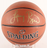 Larry Bird Signed NBA Logo Basketball (Bird Hologram) at PristineAuction.com