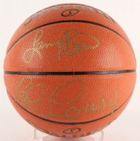 Larry Bird & Bob Cousy Signed Official NBA Game Ball Series Basketball (PSA COA) at PristineAuction.com