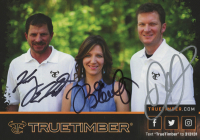 "Dale Earnhardt Jr., Kelly Earnhardt, & Kerry Earnhardt Signed True Timber"" 6x8.5 Ad Print (JSA COA) at PristineAuction.com"