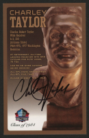 Charley Taylor Signed LE Bronze Bust Football Hall of Fame Postcard (PFHOF COA) at PristineAuction.com