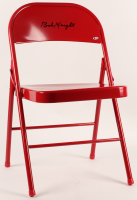 Bobby Knight Signed Red Metal Folding Chair (Beckett COA) at PristineAuction.com