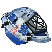 Frederik Andersen Signed Maple Leafs Mini Goalie Mask (Fanatics Hologram) at PristineAuction.com