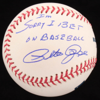 "Pete Rose Signed OML Baseball Inscribed ""I'm Sorry I Bet on Baseball"" (JSA COA) at PristineAuction.com"