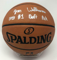 "Zion Williamson Signed Official NBA Game Ball Basketball Inscribed ""2019 #1 Draft Pick"" (Fanatics Hologram) at PristineAuction.com"