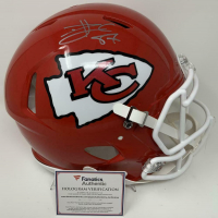Travis Kelce Signed Chiefs Super Bowl LIV Full-Size Authentic On-Field Speed Helmet (Fanatics Hologram) at PristineAuction.com