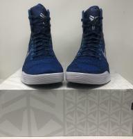 Kobe Bryant Signed Pair of (2) Nike Kobe IX Elite Metallic Blue Basketball Shoes (Panini COA) at PristineAuction.com