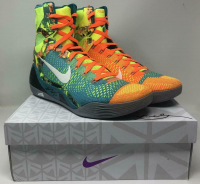 Kobe Bryant Signed Pair of (2) Nike Kobe IX Elite Sport Turquoise Basketball Shoes (Panini COA) at PristineAuction.com