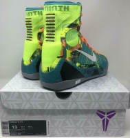 Kobe Bryant Signed Pair of (2) Nike Kobe IX Elite Sport Turquoise Basketball Shoes (Panini COA) at PristineAuction.com