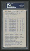 Maurice Richard Signed Canadiens Photo State Card (PSA Encapsulated) at PristineAuction.com