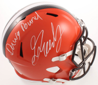 """Greedy Williams Signed Browns Full-Size Speed Helmet Inscribed """"Dawg Pound"""" (TSE COA) at PristineAuction.com"""