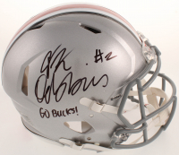 "J. K. Dobbins Signed Ohio State Buckeyes Full-Size Authentic On-Field Speed Helmet Inscribed ""Go Bucks!"" (JSA COA) at PristineAuction.com"